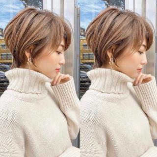 丸みショート ショート ショートヘア ハンサムショート ヘアスタイルや髪型の写真・画像