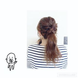 ねじり くるりんぱ ヘアアレンジ ロング ヘアスタイルや髪型の写真・画像 ヘアスタイルや髪型の写真・画像