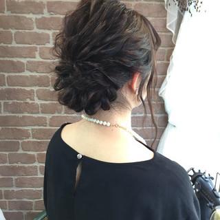 大人かわいい ロープ編み 結婚式 ヘアアレンジ ヘアスタイルや髪型の写真・画像