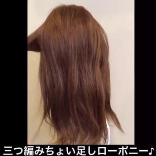 大人女子 ヘアアレンジ セミロング 簡単ヘアアレンジ ヘアスタイルや髪型の写真・画像