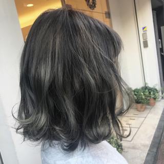 ボブ グレージュ 外国人風カラー アッシュ ヘアスタイルや髪型の写真・画像