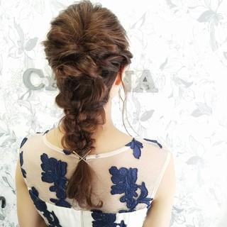 ショート ヘアアレンジ くるりんぱ セミロング ヘアスタイルや髪型の写真・画像 ヘアスタイルや髪型の写真・画像
