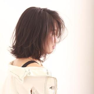 切りっぱなし デート ナチュラル 簡単ヘアアレンジ ヘアスタイルや髪型の写真・画像