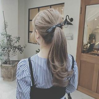 ヘアアレンジ アウトドア ゆるふわ デート ヘアスタイルや髪型の写真・画像