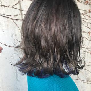 インナーカラー 透明感 ガーリー グレージュ ヘアスタイルや髪型の写真・画像