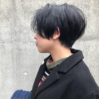 リラックス ウェットヘア ショート モード ヘアスタイルや髪型の写真・画像