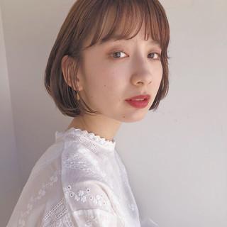 外ハネボブ ナチュラル 韓国ヘア ミニボブ ヘアスタイルや髪型の写真・画像