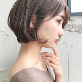 ナチュラル アッシュブラウン ショートヘア アンニュイほつれヘア ヘアスタイルや髪型の写真・画像