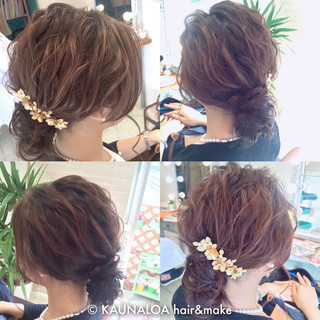 波ウェーブ ゆるふわ 簡単ヘアアレンジ ロング ヘアスタイルや髪型の写真・画像