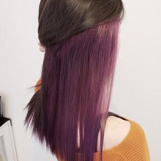 ロング ナチュラル ハイトーン インナーカラー ヘアスタイルや髪型の写真・画像 | 浅原 有輝 / rough
