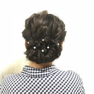 お呼ばれヘア フェミニン パーティヘア ヘアアレンジ ヘアスタイルや髪型の写真・画像