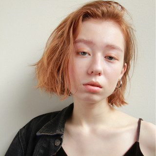ナチュラル くせ毛風 外国人風 ボブ ヘアスタイルや髪型の写真・画像