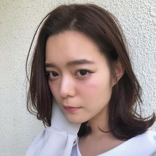 オーガニックカラー ミディアム 秋 女子力 ヘアスタイルや髪型の写真・画像