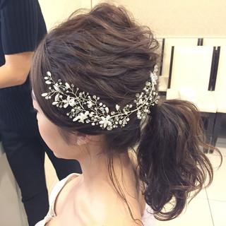 結婚式 編み込み アンニュイ 花嫁 ヘアスタイルや髪型の写真・画像