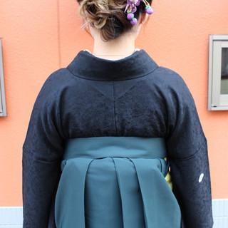 学校 謝恩会 ナチュラル グラデーションカラー ヘアスタイルや髪型の写真・画像