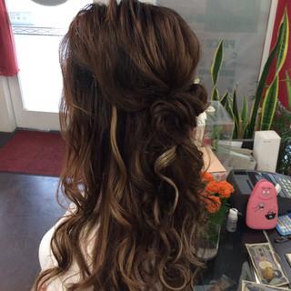 ヘアアレンジ 結婚式 ロング ナチュラル ヘアスタイルや髪型の写真・画像