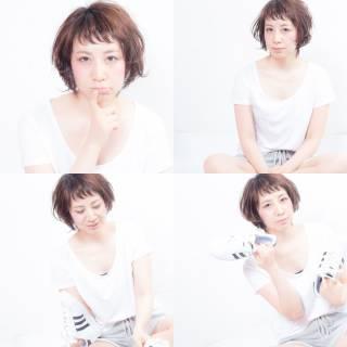 大人かわいい 春 オン眉 ナチュラル ヘアスタイルや髪型の写真・画像 ヘアスタイルや髪型の写真・画像