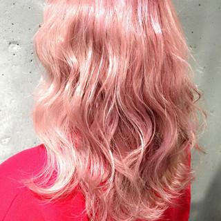 ガーリー 外国人風 セミロング グラデーションカラー ヘアスタイルや髪型の写真・画像