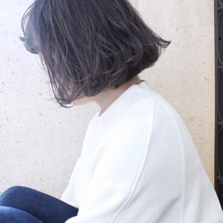 ゆるふわ ボブ 大人かわいい ナチュラル ヘアスタイルや髪型の写真・画像