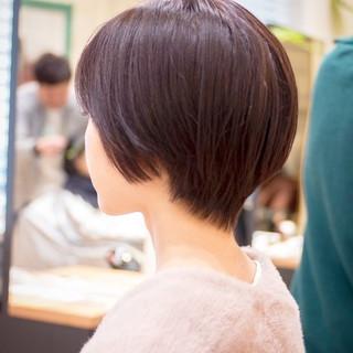 ショート ナチュラル ショートカット ショートボブ ヘアスタイルや髪型の写真・画像