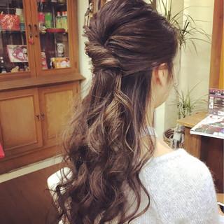 ロング エレガント ヘアアレンジ 結婚式 ヘアスタイルや髪型の写真・画像