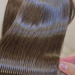 ナチュラル ミルクティーグレージュ 髪質改善 大人ロング ヘアスタイルや髪型の写真・画像