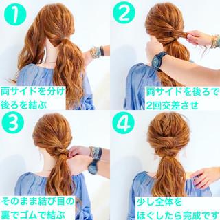 フェミニン ロング ヘアアレンジ アウトドア ヘアスタイルや髪型の写真・画像