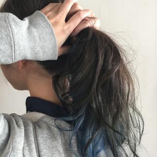 大人女子 外国人風 ロング ハーフアップ ヘアスタイルや髪型の写真・画像