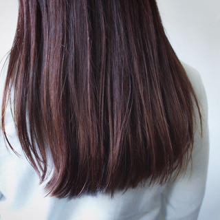 ラベンダーピンク グレージュ ナチュラル ロング ヘアスタイルや髪型の写真・画像