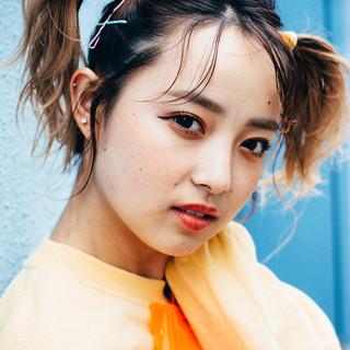 ミディアム ライブ ガーリー ヘアアレンジ ヘアスタイルや髪型の写真・画像