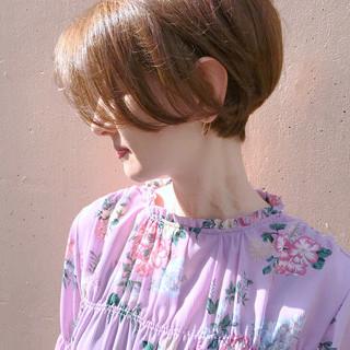 小顔ショート ショート フェミニン デート ヘアスタイルや髪型の写真・画像