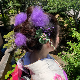 モード ヘアアレンジ ロング 成人式 ヘアスタイルや髪型の写真・画像