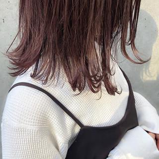 ヘアアレンジ 簡単ヘアアレンジ ミディアム パーマ ヘアスタイルや髪型の写真・画像