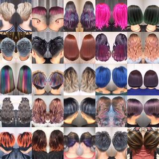 アウトドア 外ハネ ヘアアレンジ 簡単ヘアアレンジ ヘアスタイルや髪型の写真・画像