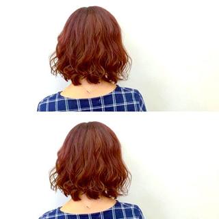 色気 パーマ ミディアム フェミニン ヘアスタイルや髪型の写真・画像