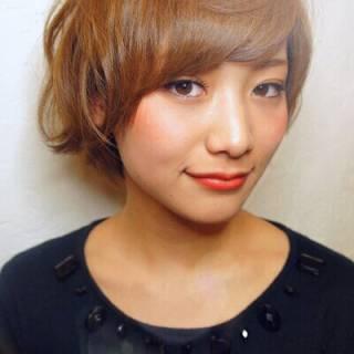 モテ髪 愛され 外国人風 ショート ヘアスタイルや髪型の写真・画像
