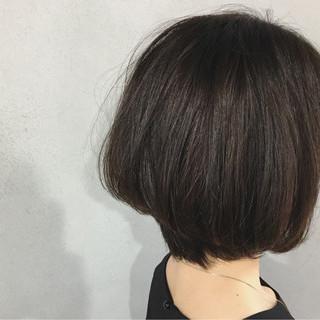 艶髪 ショート ボブ ナチュラル ヘアスタイルや髪型の写真・画像