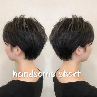 モード ショート ショートボブ ハンサム ヘアスタイルや髪型の写真・画像