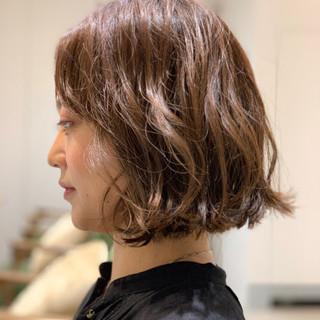 デート ゆるふわ 簡単ヘアアレンジ ボブ ヘアスタイルや髪型の写真・画像