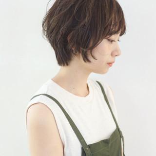 ショート フェミニン ショートボブ 簡単 ヘアスタイルや髪型の写真・画像