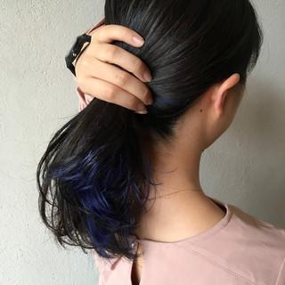 ヘアアレンジ 黒髪 モード ミディアム ヘアスタイルや髪型の写真・画像 ヘアスタイルや髪型の写真・画像