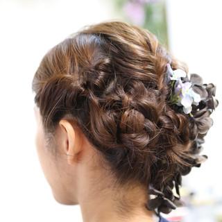 ロング エレガント 出張 結婚式 ヘアスタイルや髪型の写真・画像