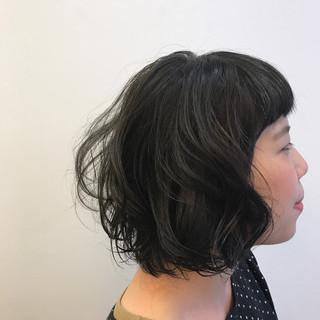 モード パーマ リラックス ゆるふわ ヘアスタイルや髪型の写真・画像