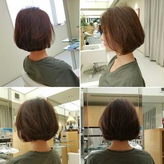 前髪あり 大人女子 ボブ 前下がり ヘアスタイルや髪型の写真・画像