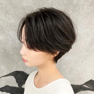 小顔 女子力 ショート 大人かわいい ヘアスタイルや髪型の写真・画像