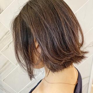 銀座美容室 ボブ モテボブ ナチュラル ヘアスタイルや髪型の写真・画像