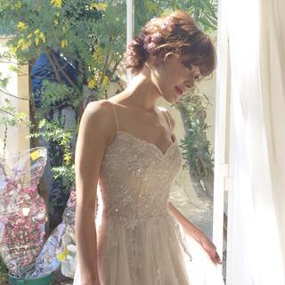 外国人風 大人かわいい ゆるふわ フェミニン ヘアスタイルや髪型の写真・画像