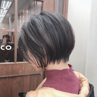 デート ベリーショート ショートボブ ショート ヘアスタイルや髪型の写真・画像