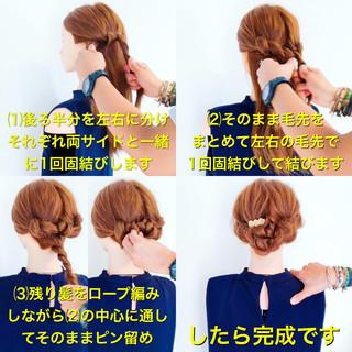 結婚式 簡単ヘアアレンジ ロング ヘアアレンジ ヘアスタイルや髪型の写真・画像