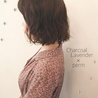パーマ ボブ 簡単 ミディアム ヘアスタイルや髪型の写真・画像 ヘアスタイルや髪型の写真・画像